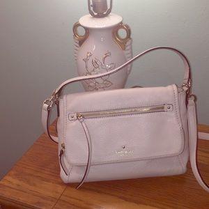 Kate Spade cream crossbody purse gold trim